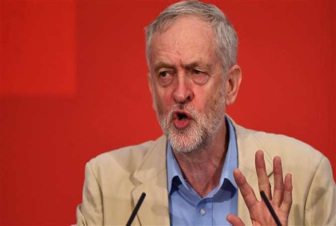 British opposition Labour Party Leader Jeremy Corbyn