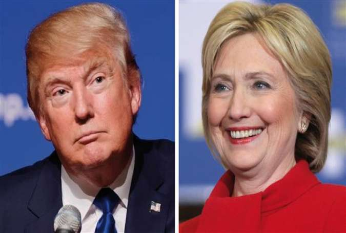 Republican presidential front-runners, Donald Trump and Hillary Clinton