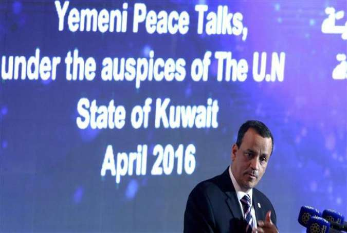 United Nations Special Envoy to Yemen, Ismail Ould Cheikh Ahmed speaks during a press conference on May 15, 2016 in Kuwait City.