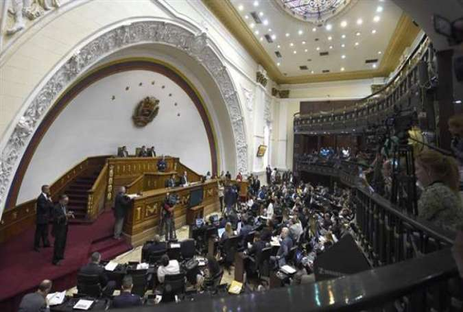 A general view of the Venezuelan National Assembly during a special session in the capital, Caracas, May 17, 2016