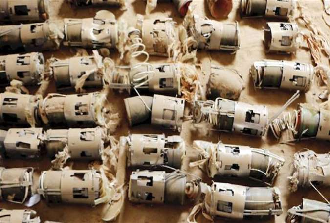 Amnesty International has found evidence of unexploded cluster bombs in Yemen.