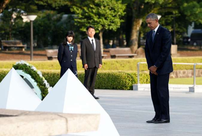 US president visits site of America's first atomic bombing