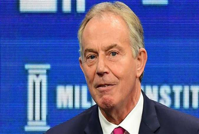 "Tony Blair, former British prime minister, speaks during the lunch program panel ""ISIS and Global Terrorism: What It Will Take to Defeat Them"" at the 2016 Milken Institute Global Conference in Beverly Hills, California on May 3, 2016."