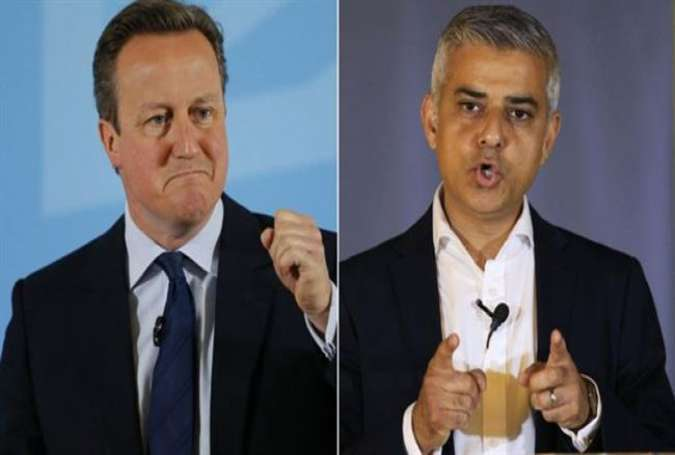 David Cameron (L) and Sadiq Khan will jointly launch a Britain Stronger In Europe battle bus.