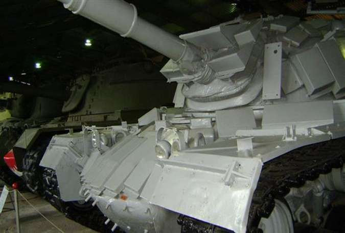 The Israeli M48 tank, which was captured by the Syrian forces during the Battle of Sultan Yacoub in June 1982, is seen at the Kubinka Tank Museum, Moscow, Russia.
