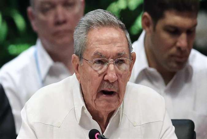 Cuban President Raul Castro speaks during the Association of Caribbean States summit on problems linked to climate change at Revolution Palace in Havana, June 4, 2016.