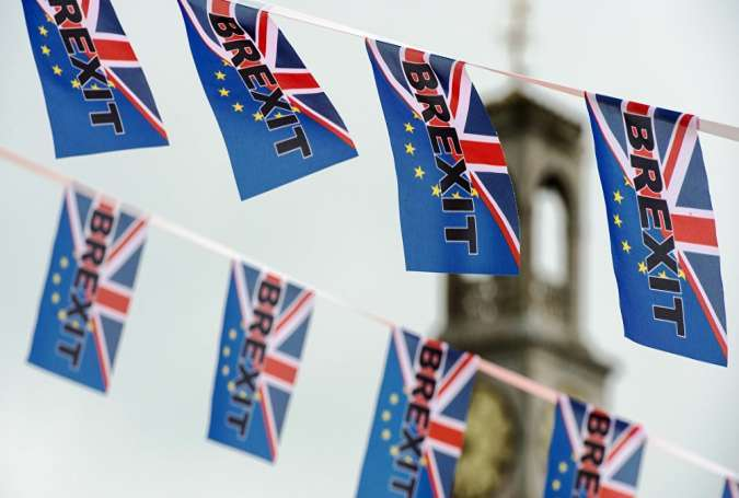 Bendera kecil Brexit di London (© AFP 2016/ Chris J Ratcliffe)