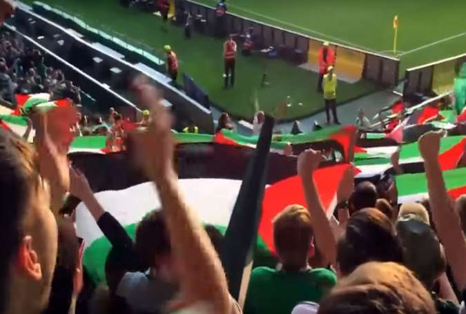 Celtic fans vow to cover UEFA disciplinary fine & match it for Palestinian charities