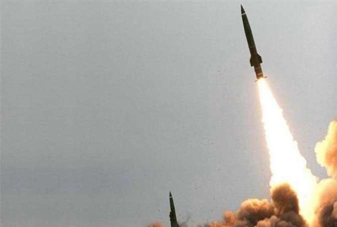 Yemeni forces launch missile at a Saudi military base in the kingdom.