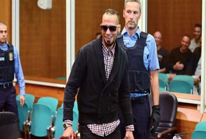 German man Abdelkarim El B appears in a court in Berlin for allegedly joining Daesh in Syria.
