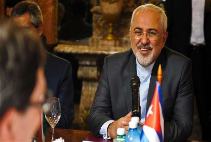 Iranian Foreign Minister Mohammad Javad Zarif in the Cuban capital, Havana, August 22, 2016