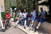 A social media image of young men who say they were crippled by Israeli forces