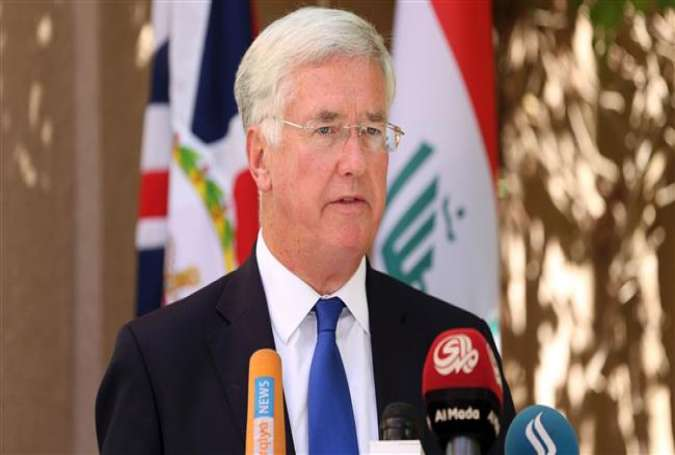 British Defence Secretary Michael Fallon speaks during a press conference at the British embassy in the Iraqi capital Baghdad on September 21, 2016.