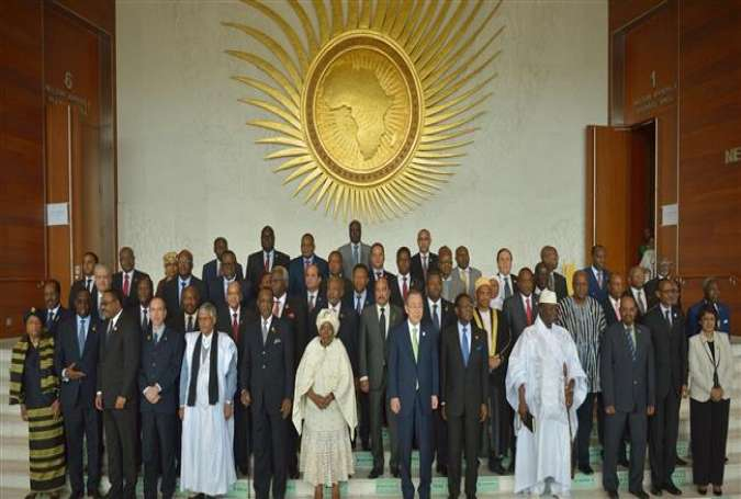 African heads of state pose for an African Union family portrait at the AU headquarters in Addis Ababa, Ethiopia, January 30, 2016.