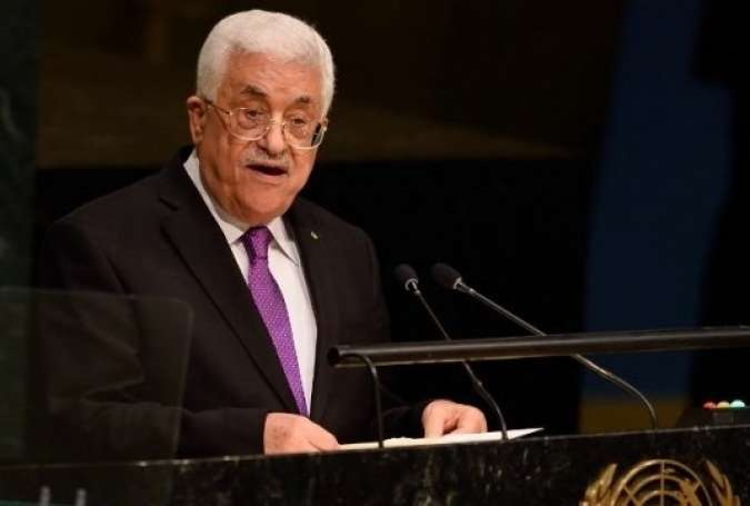 Palestinian President Mahmoud Abbas addresses the 70th session of the United Nations General Assembly on Sept. 30, 2015 at the United Nations headquarters in New York.