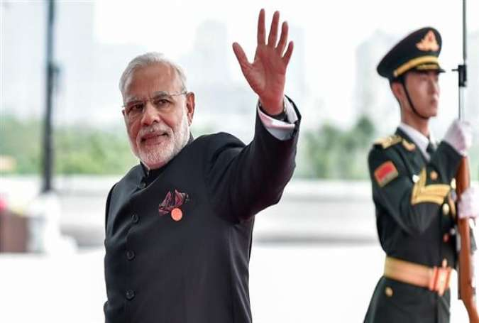 Indian Prime Minister Narendra Modi arrives at the Hangzhou Exhibition Center to participate to G20 Summit, in Hangzhou, Zhejiang province, China, September 4, 2016.