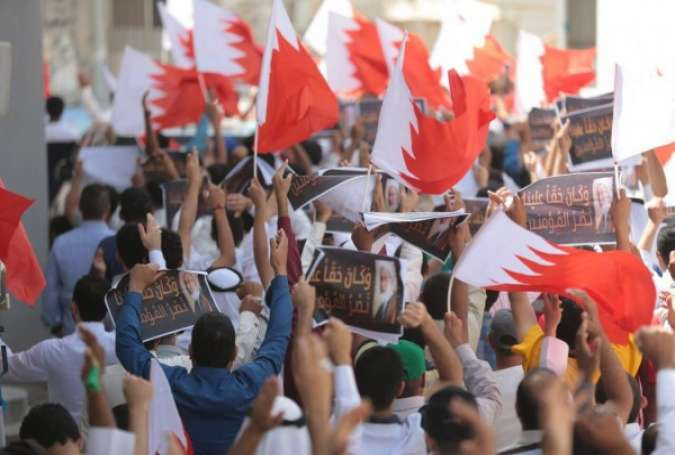 Bahraini Protesters Denouncing Tribute to War Criminal Peres