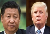 Chinese President Xi Jinping (L) and US President-elect Donald Trump