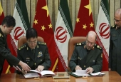 Iranian Defense Minister Brigadier General Hossein Dehqan and his Chinese counterpart General Chang Wanquan