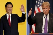Chinese President Xi Jinping (L), U.S. president-elect Donald Trump (R).