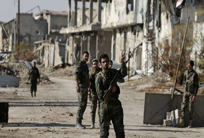 Syrian army soldiers take full control over Aleppo's Old City