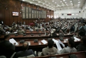 Yemeni lawmakers attend a parliamentary session in Sana'a, Yemen, August 13, 2016.