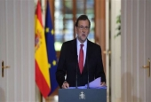 Spanish Prime Minister Mariano Rajoy holds a press conference in Madrid on December 30, 2016.