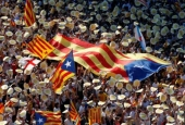 100s of Catalans rally in support of Catalonia's secession from Spain