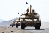 Saudi Arabian tanks deployed in Yemen