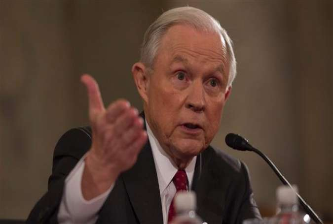 Senator Jeff Sessions (R-AL) testifies during his confirmation hearing to be the attorney general of the US before the Senate Judiciary Committee on January 10, 2017, in Washington, DC.