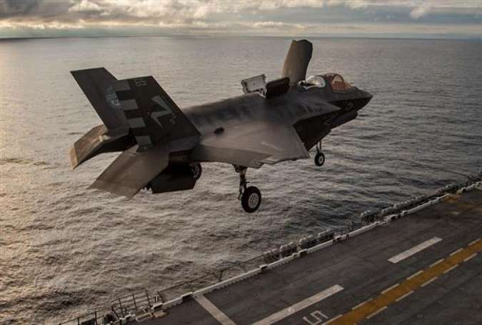 An F-35B Lightning II aircraft completes Envelope Expansion Testing during a short take-off vertical landing aboard USS America, Oct. 30, 2016.