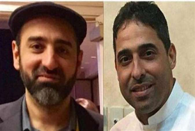 This combo photo shows Saudi human rights activists Essam Koshak (L) and Ahmed al-Mshikhs.