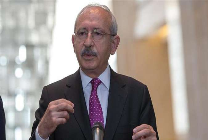 Leader of Turkey's main opposition Republican People's Party (CHP) Kemal Kilicdaroglu