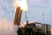This file, handout image shows the launch of the Terminal High Altitude Area Defense (THAAD) missile during a test.