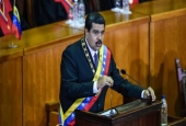 Nicolas Maduro delivers the annual presidential speech at the Supreme Court of Justice in the capital, Caracas, January 15, 2017.