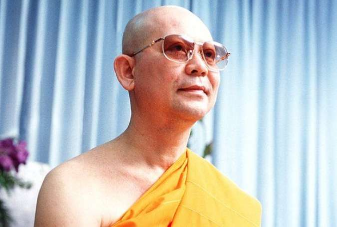 "Phra Dhammachayo, founder, leader and ""abbot"" of the Dhammakaya Temple (Bangkok Post)"
