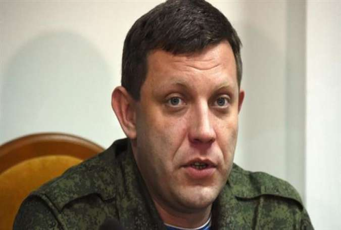 File photo of Alexander Zakharchenko, the leader of the self-proclaimed Donetsk People