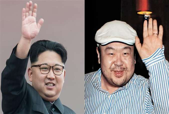 This combo photo shows file photos of North Korean leader Kim Jong-un (L), and his older half-brother Kim Jong-nam.
