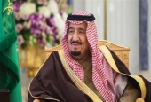 A handout picture provided by the Saudi Royal Palace on February 21, 2017 shows Saudi King Salman.