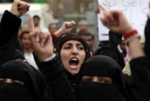 Yemeni Women Stage Sit-in Protest at UN Office over Saudi Aggression
