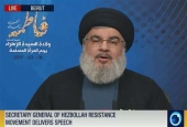 Sayyed Hassan Nasrallah, delivers a televised speech in Beirut, Lebanon, on March 18, 2017..jpg