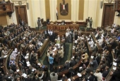 The file photo shows a parliamentary session in Cairo, Egypt. (Photo by AFP)