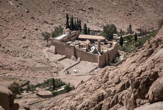 A picture taken on April 16, 2017 shows a general view of the Monastery of St. Catherine in Egypt