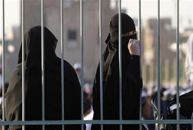 A file photo shows two Saudi women.