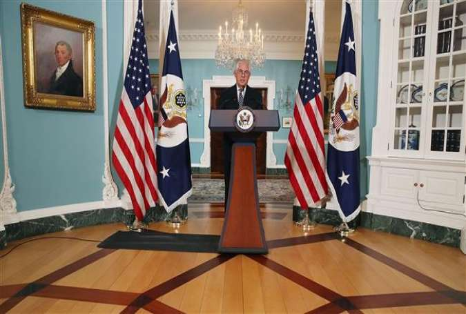 US Secretary of State Rex Tillerson speaks at the State Department on April 19, 2017 in Washington, DC. (Photo by AFP)