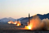 North Korea's military forces launch four ballistic missiles.jpg
