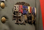 A file photo showing German medals dating back to the Second World War ( Photo via RT)