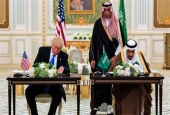 A handout picture provided by the Saudi Royal Palace on May 20, 2017, shows US President Donald Trump (L) and Saudi King Salman bin Abdulaziz Al Saud. (Photo by AFP)