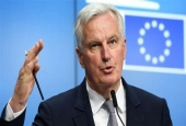 European Commission member in charge of Brexit negotiations with Britain, Michel Barnier, gestures as he speaks during a press conference at the end of a general affairs council at the European Council in Brussels, May 22, 2017. (Photo by AFP)