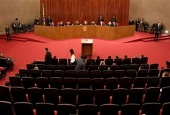 A general view of the Supreme Electoral Court (TSE) session in Brasilia, Brazil, on June 7, 2017 (Photo by AFP)